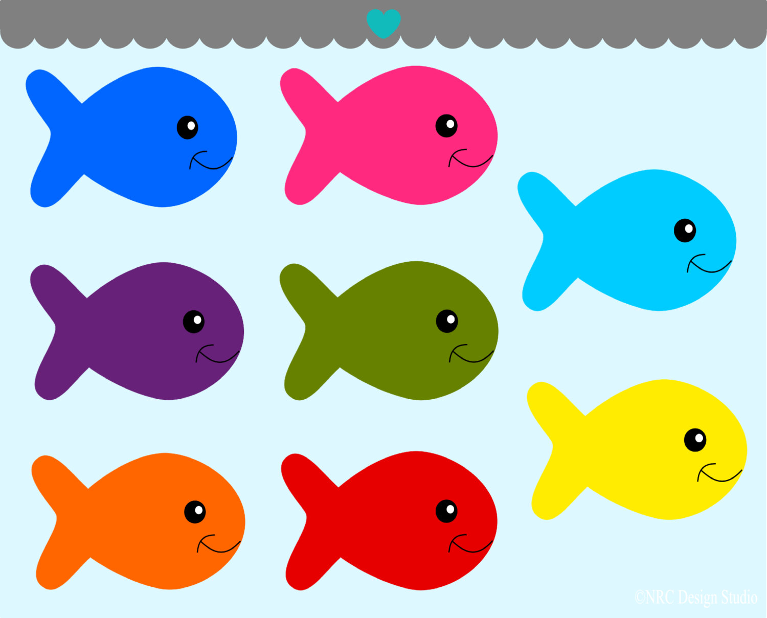 22036 Fish free clipart.