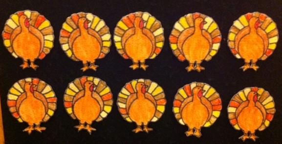 turkeys.