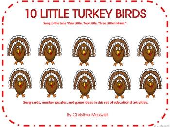 Ten Little Turkeys Worksheets & Teaching Resources.