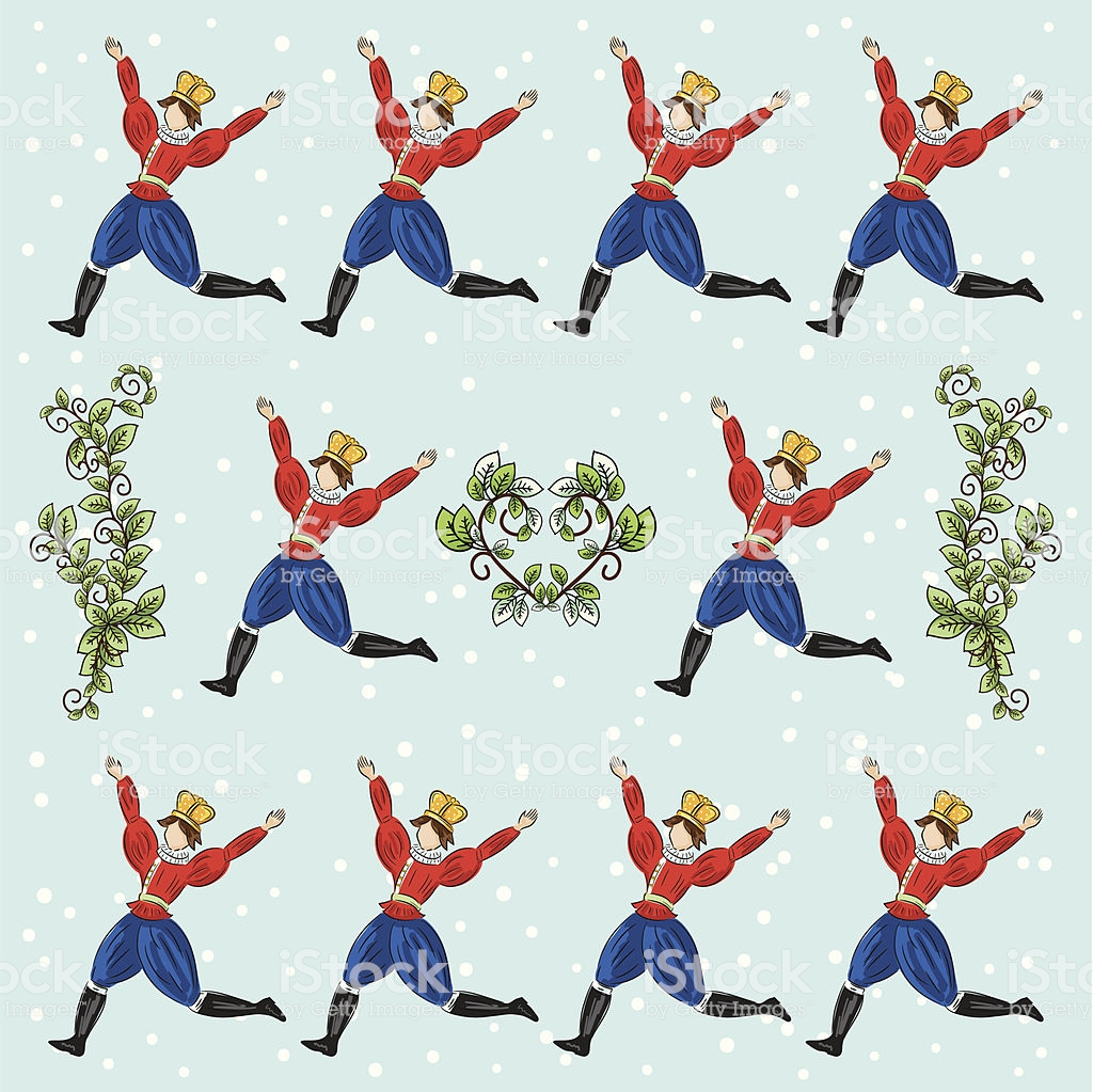 The Twelve Days Of Christmas Series Ten Lords A Leaping.