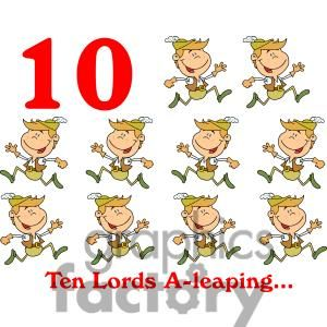 On the 10th day of Christmas my true love gave to me Ten.