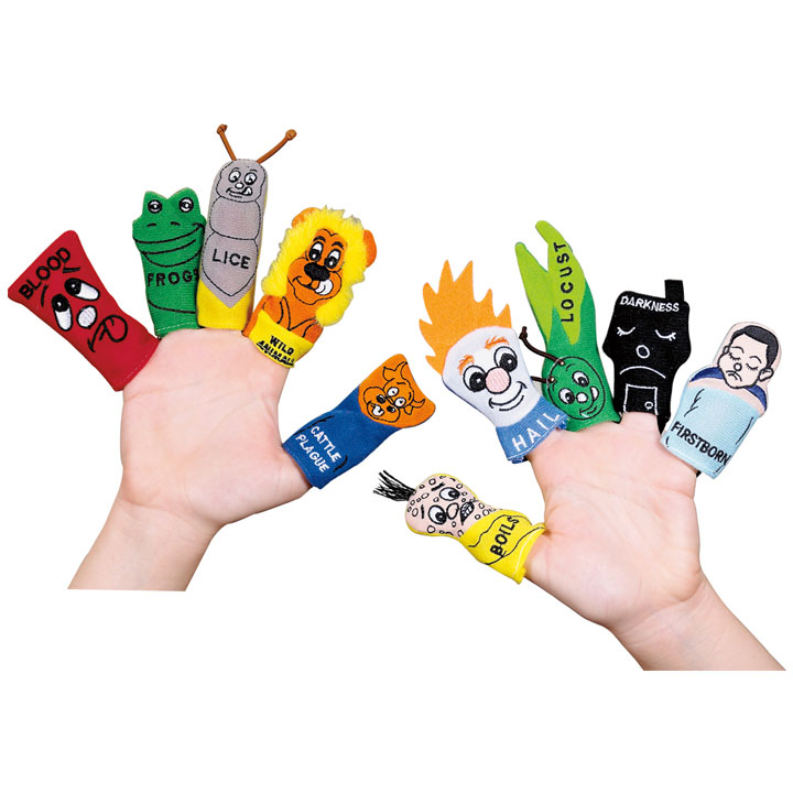 Passover 10 Plagues Finger Puppets.