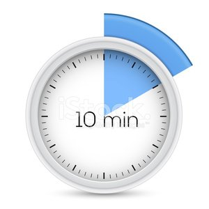 Ten minutes timer Clipart Image.