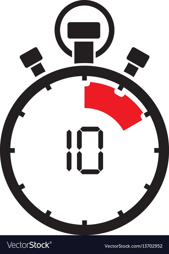 Ten minute stop watch countdown.