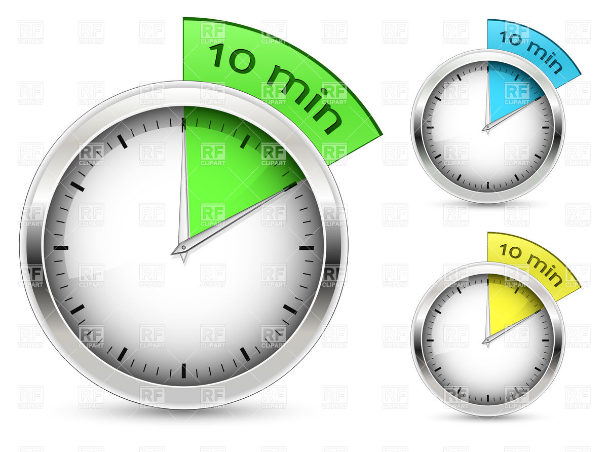 10 Minute Timer Clipart.