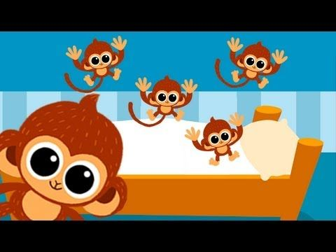 Five little Monkeys jumping on the bed nursery rhyme.