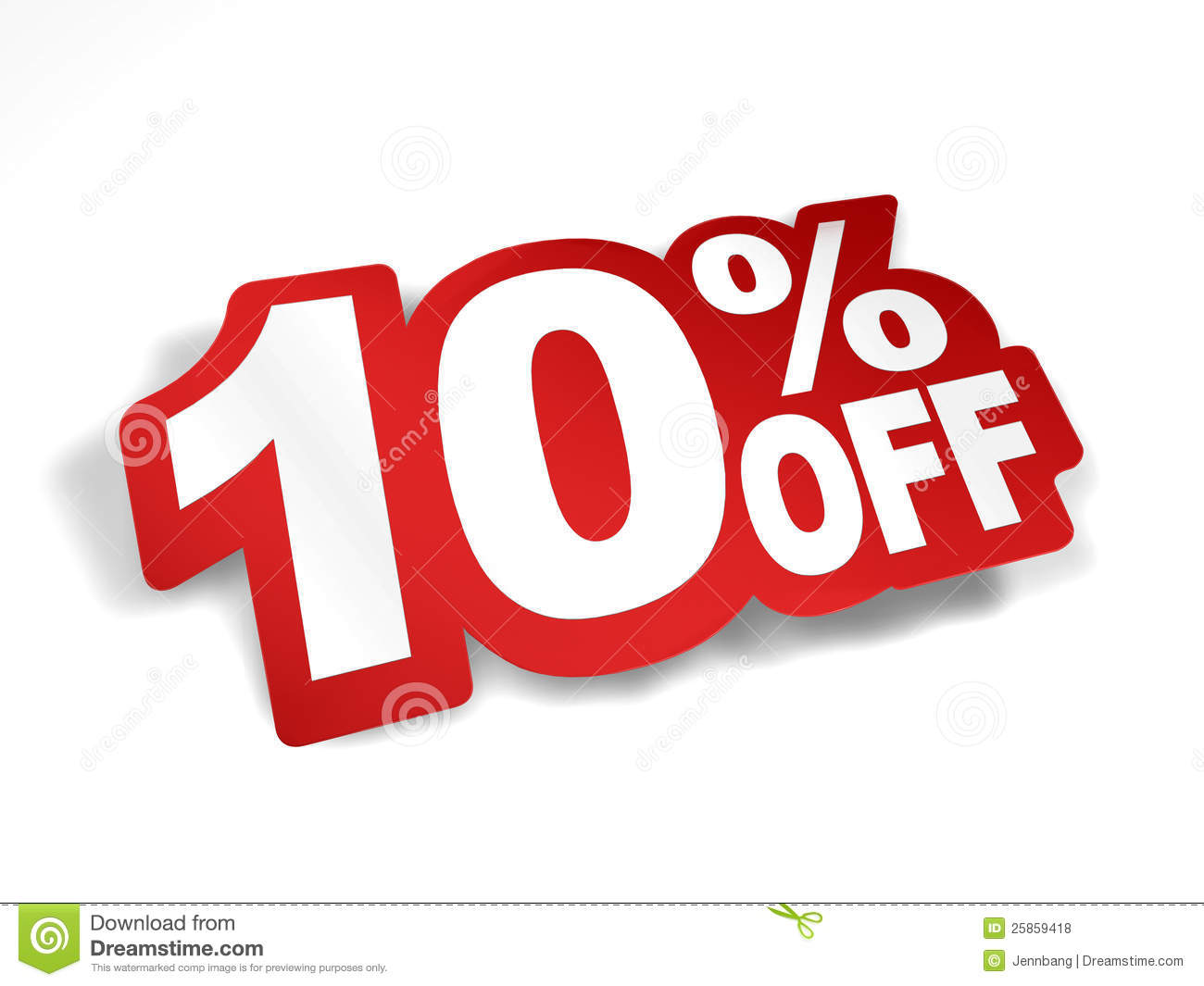10 Percent Off Discount Royalty Free Stock Photos.