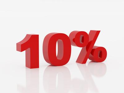 10 Percent Clipart.