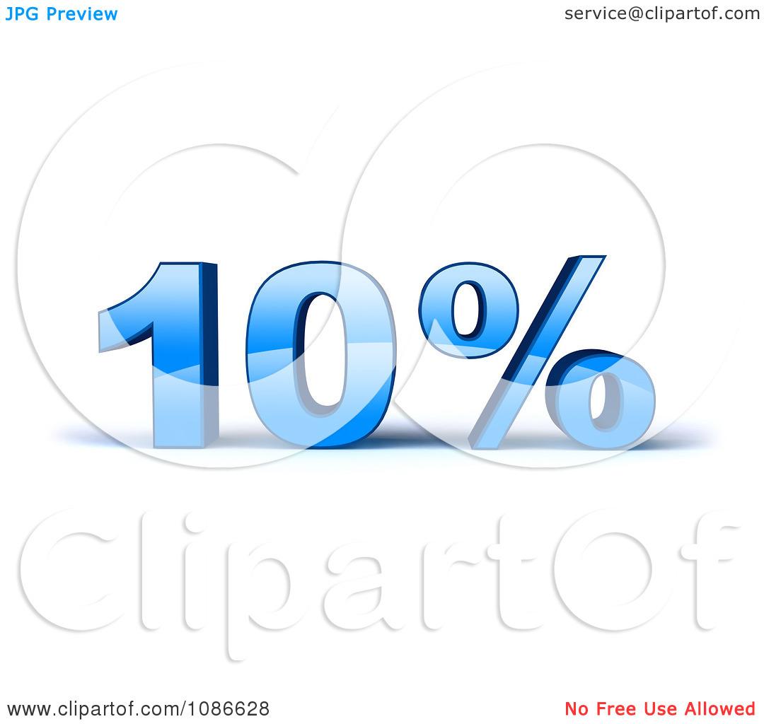 Clipart 3d Blue 10 Percent Off.