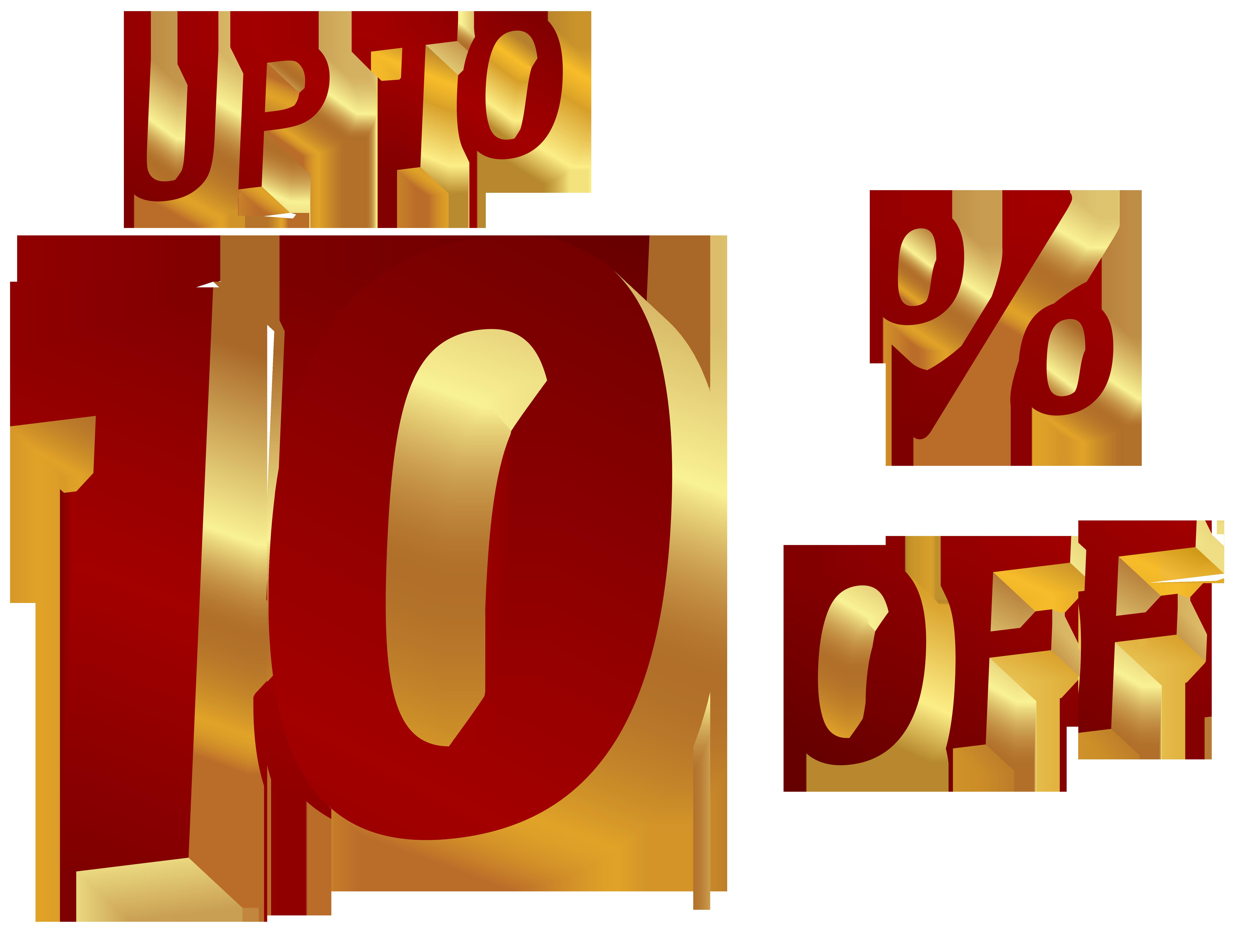 10 Percent Discount Clip Art Image.