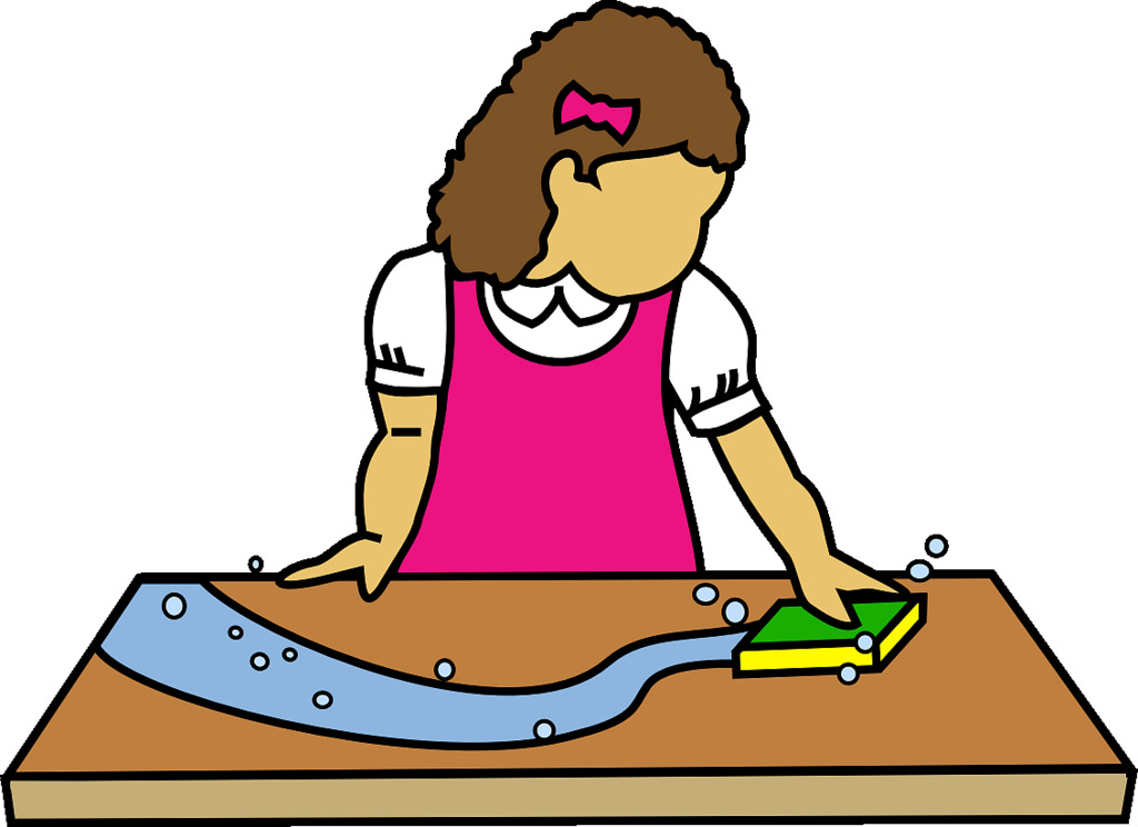 Wiping the table clipart 2 » Clipart Station.