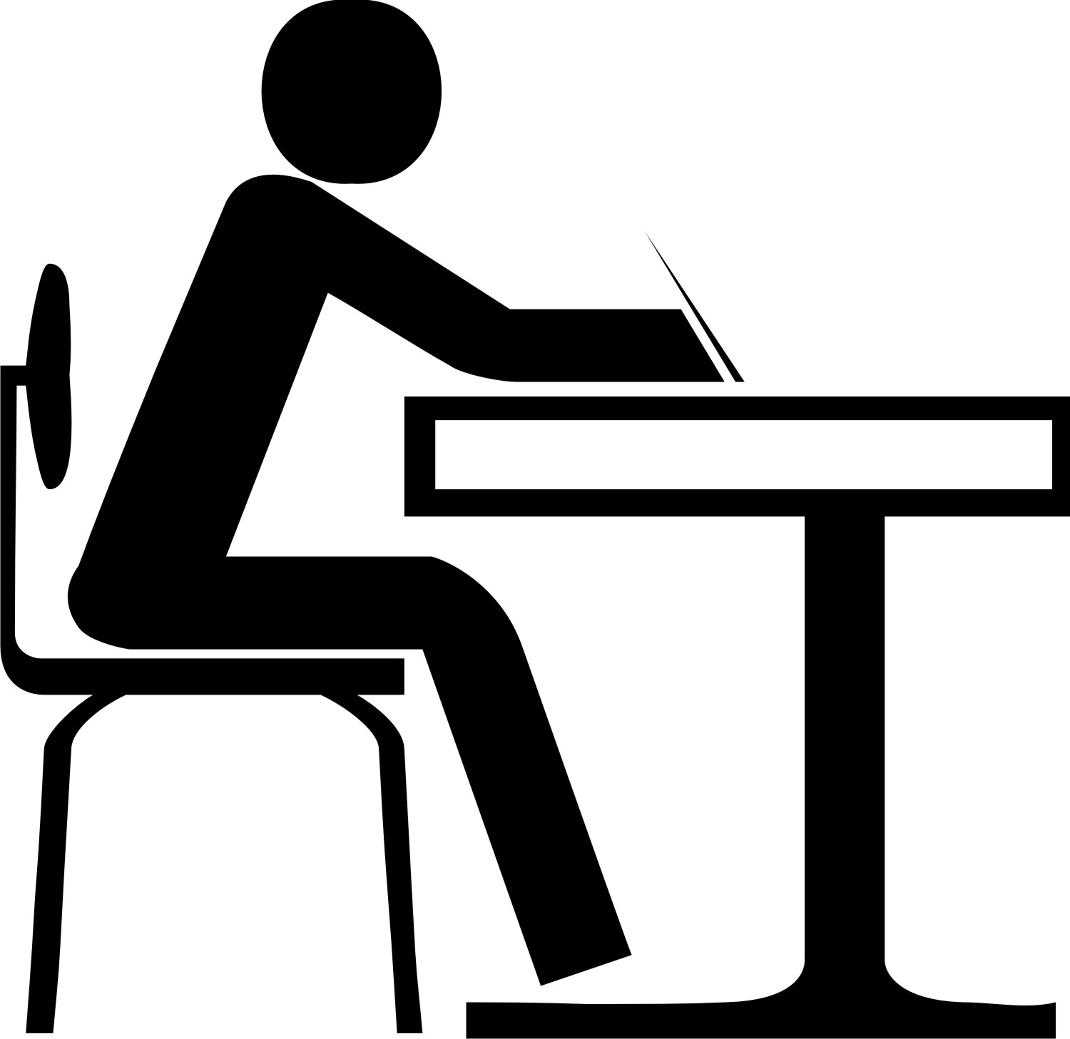 Office Table And Chair Clipart.
