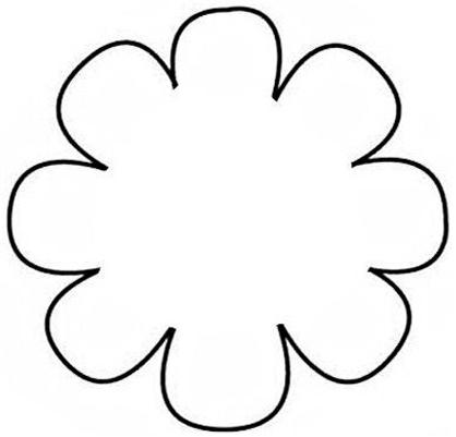 Free 8 Petal Flower Template, Download Free Clip Art, Free.