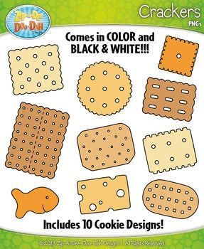 Crackers Clipart {Zip.