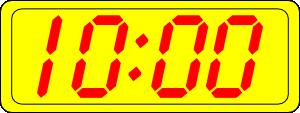 Digital Clock 10:00 Clip Art at Clker.com.