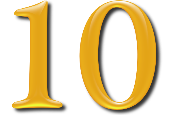 10 Numbers Icon Clipart.