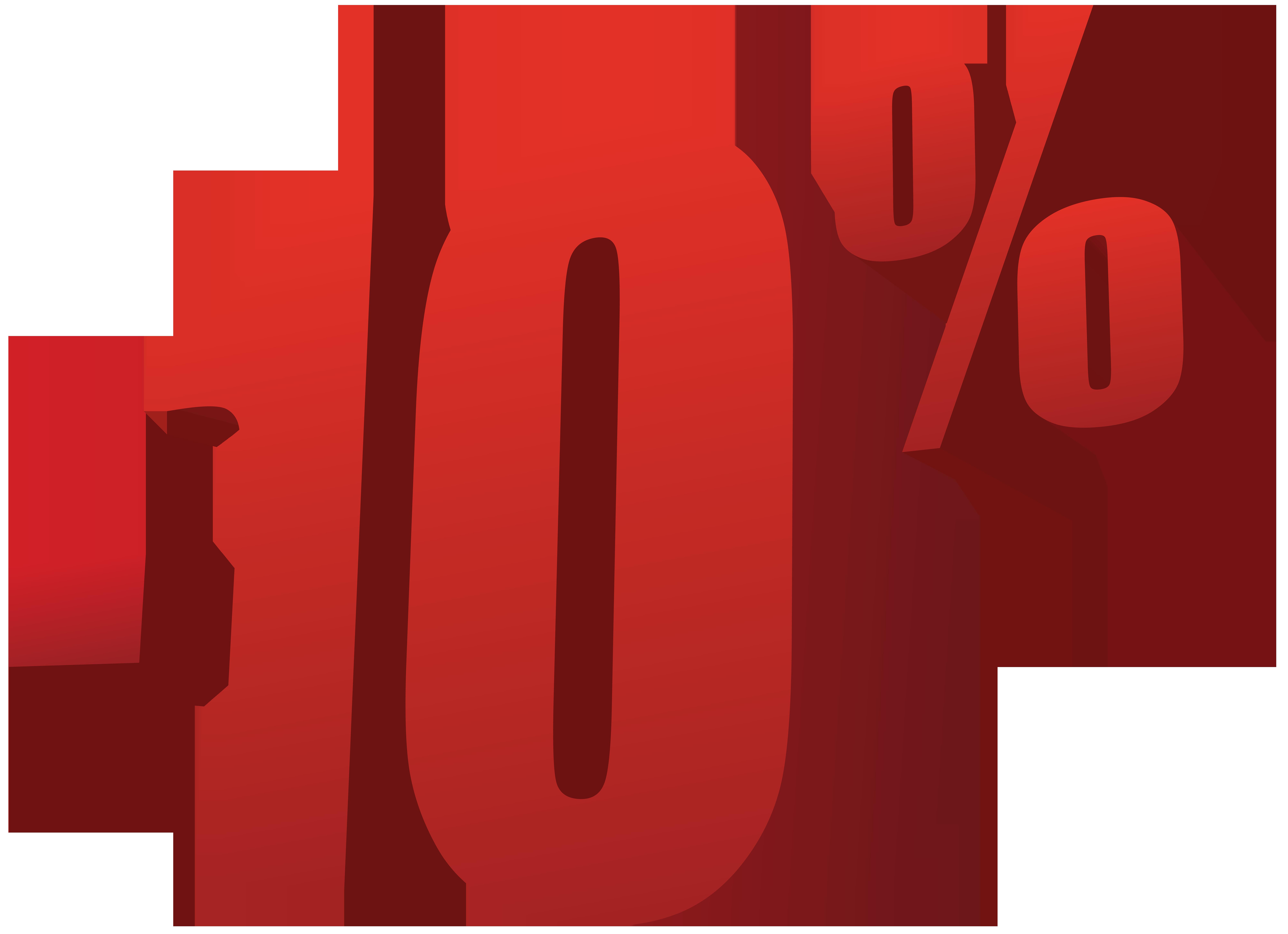 10% Off Sale PNG Transparent Image.