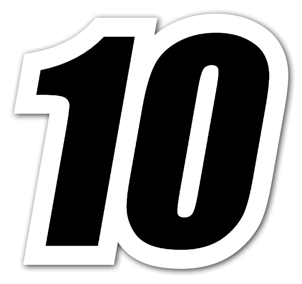 10 Number PNG Clipart.