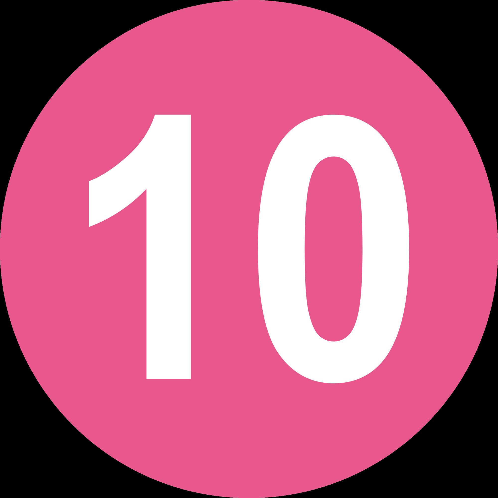 10 Number PNG Image.