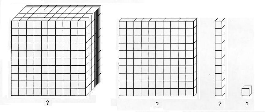 Base 10 Cube Clipart.