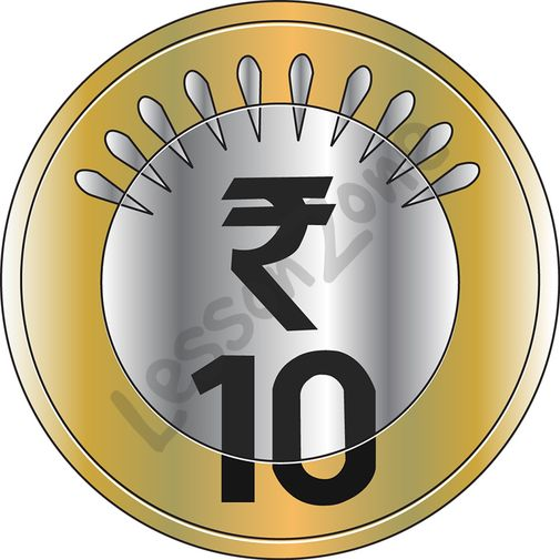 Indian Coins Clipart Black And White.
