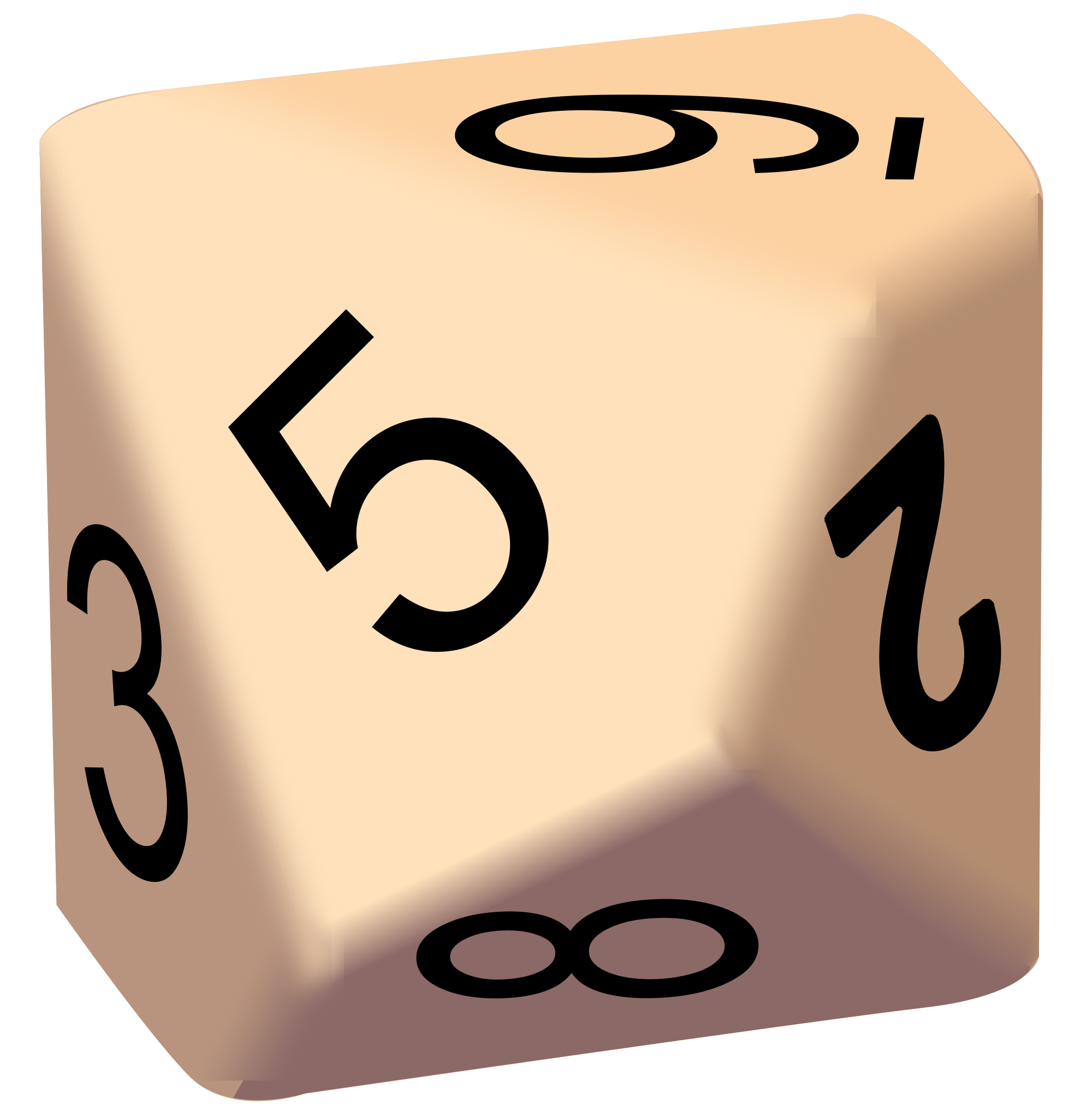 10 Sided Dice Clipart.