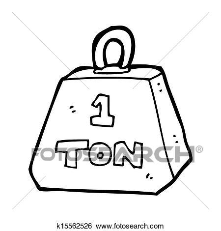 Stock Illustration of cartoon one ton weight k15562526.