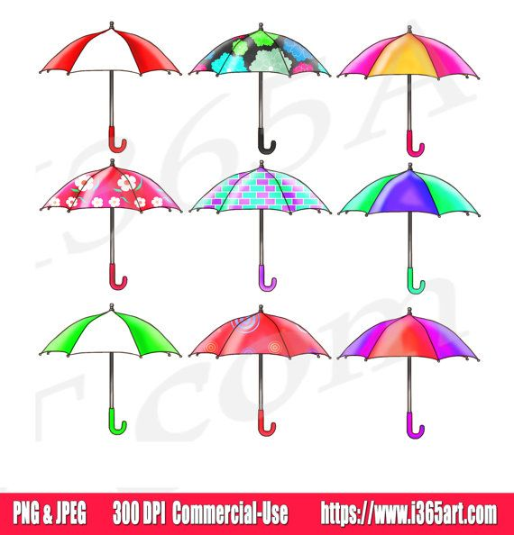 Umbrella Clipart Clip art, Rain Umbrellas, Baby Showers.