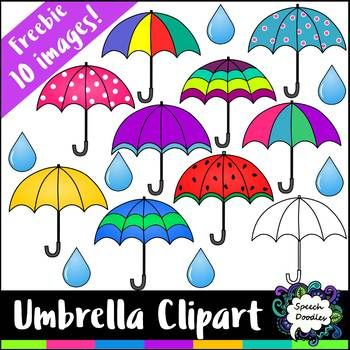 Free Umbrella Clipart Mini Bundle.