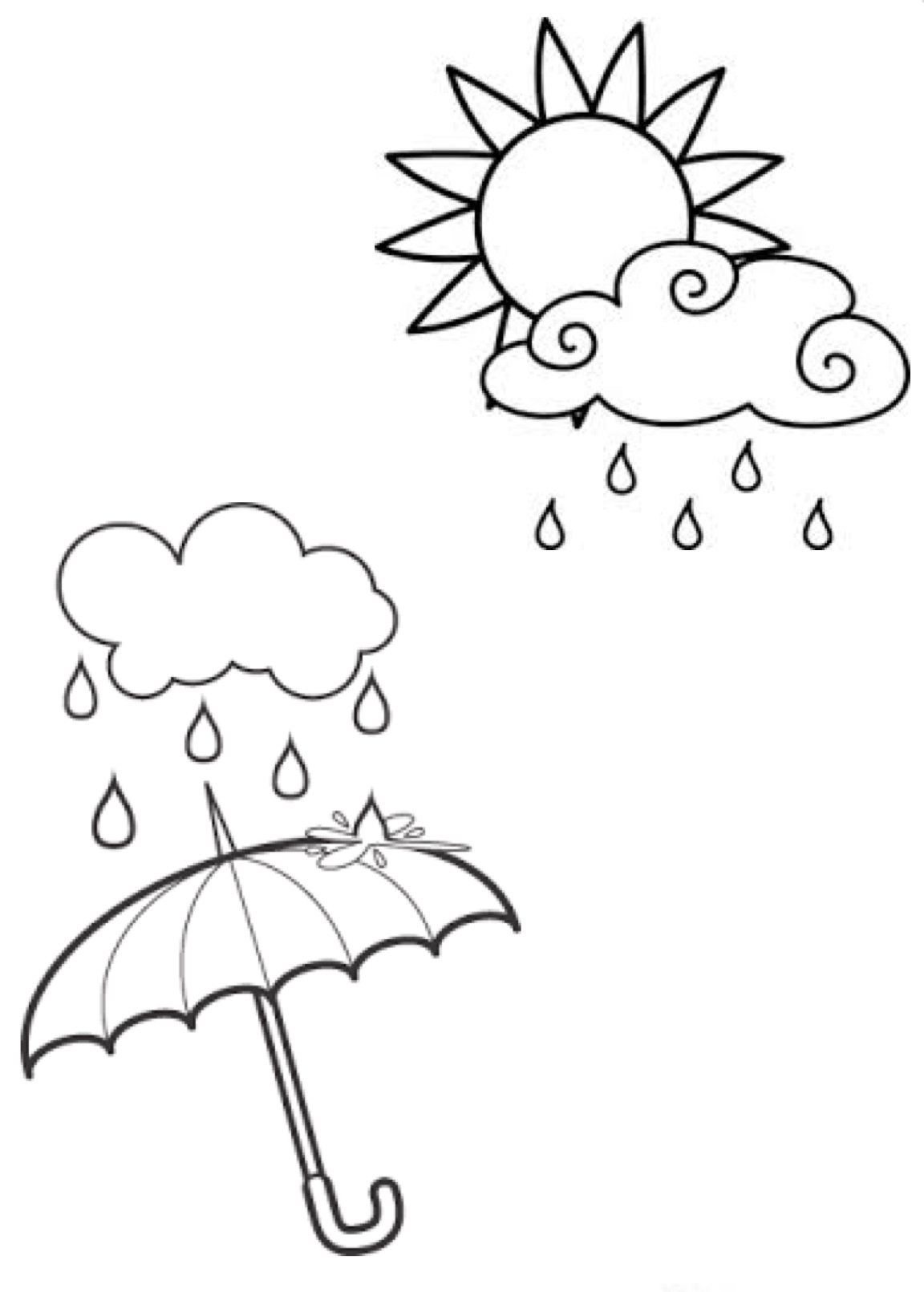 Umbrella Clipart, Coloring Pages And More Free Printable.
