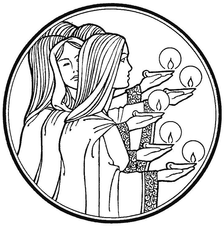 Ten Virgins Coloring Pages.