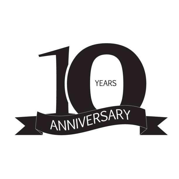 Royalty Free 10th Anniversary Clip Art, Vector Images.