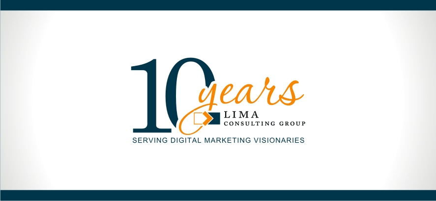 Lima Consulting Group 10 Year Anniversary Logo.