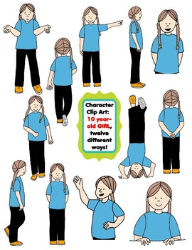 Character Clip Art: Ten Year.