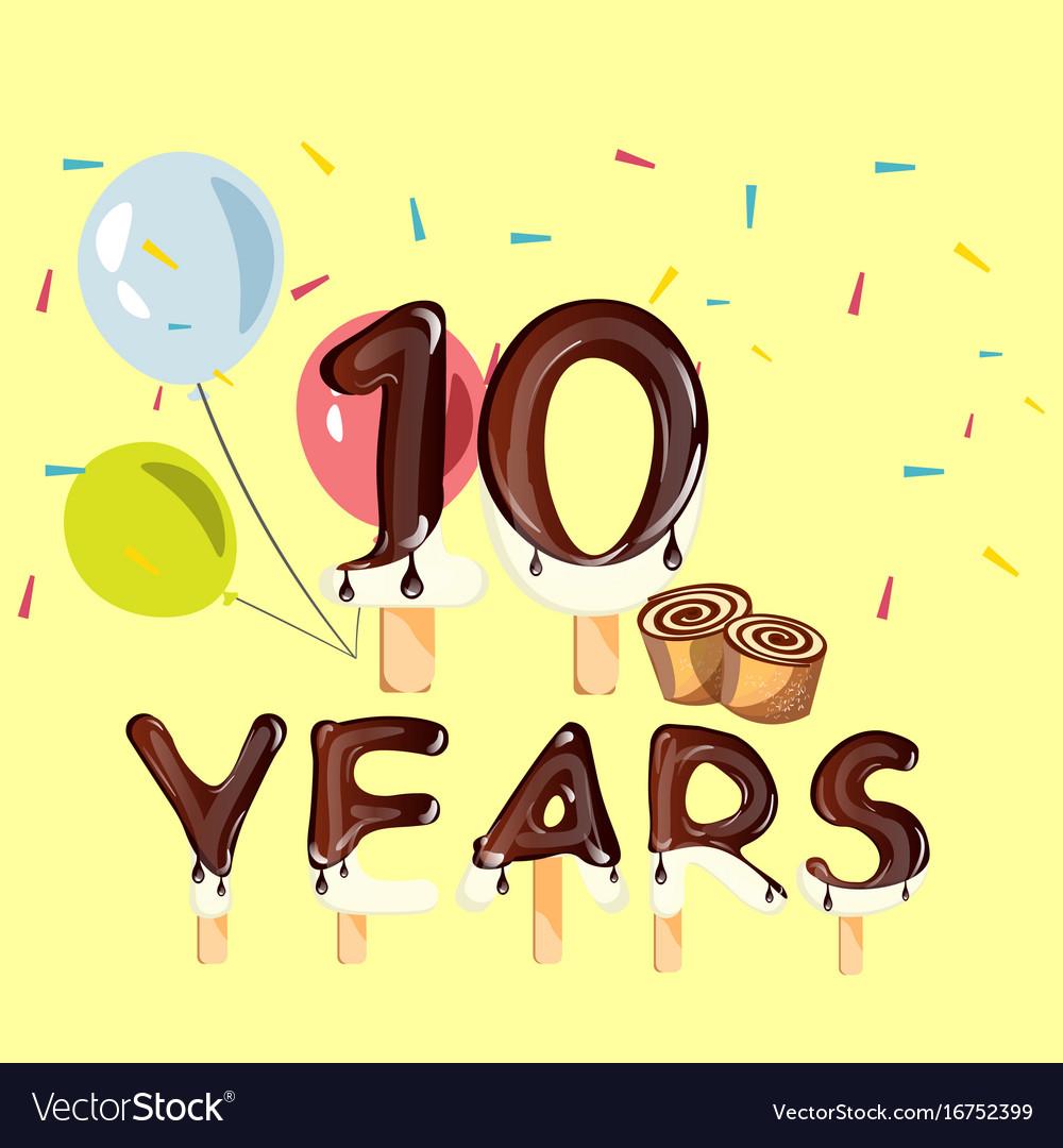 10 years anniversary celebration logo birthday.