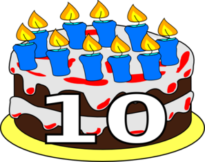 10th Birthday Cake Dom Clip Art at Clker.com.