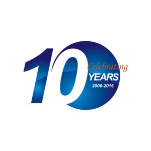 10 year anniversary logo.