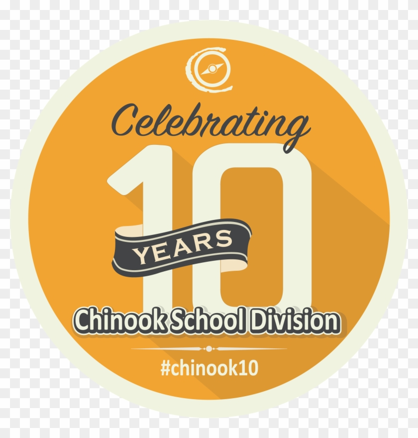 Chinook 10 Year Logo.