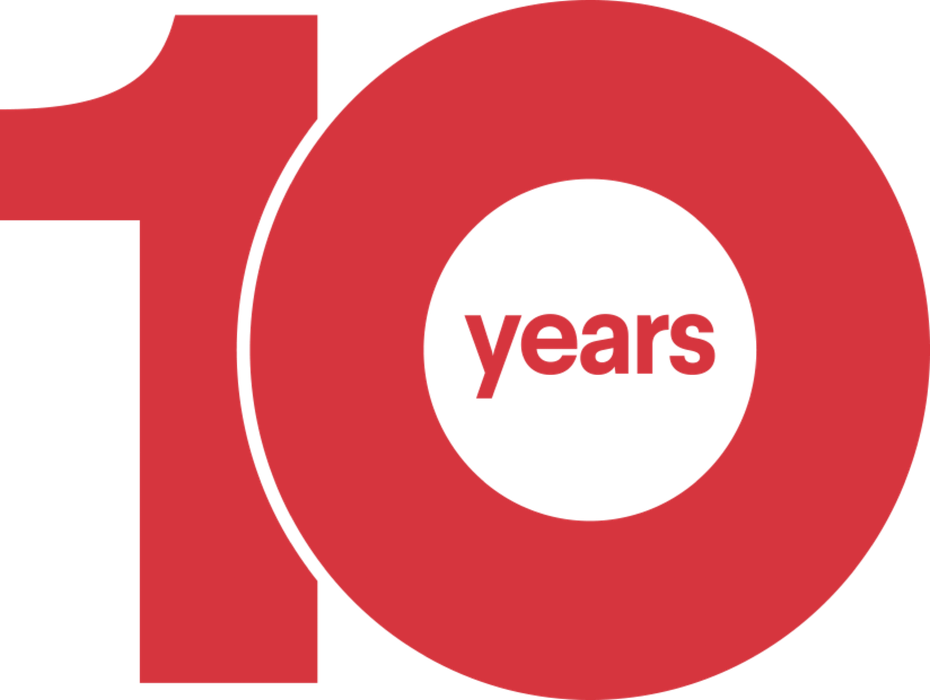 10 years: A decade of design connections.