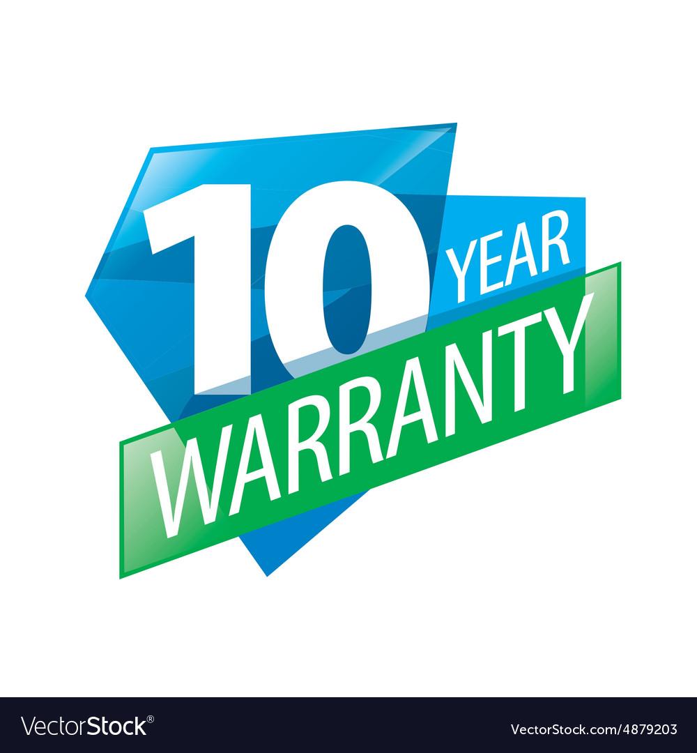 Logo 10 years warranty.