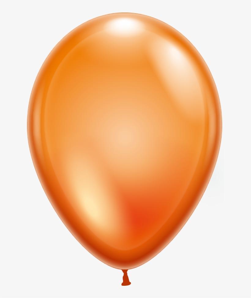 100 Balloons Crystal Orange.