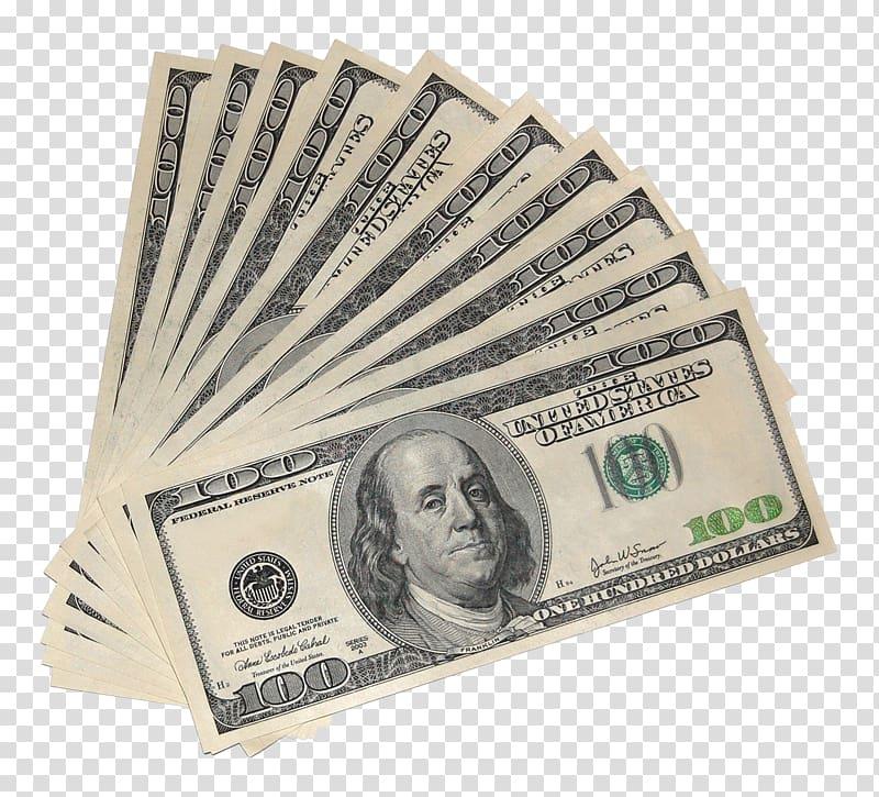 Fan of 100 US dollar banknotes, United States Dollar FHA.
