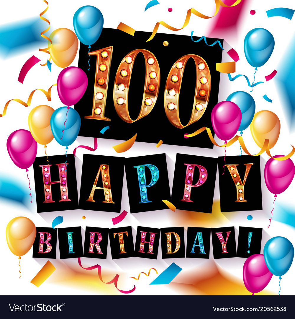 Happy birthday 100 years anniversary.