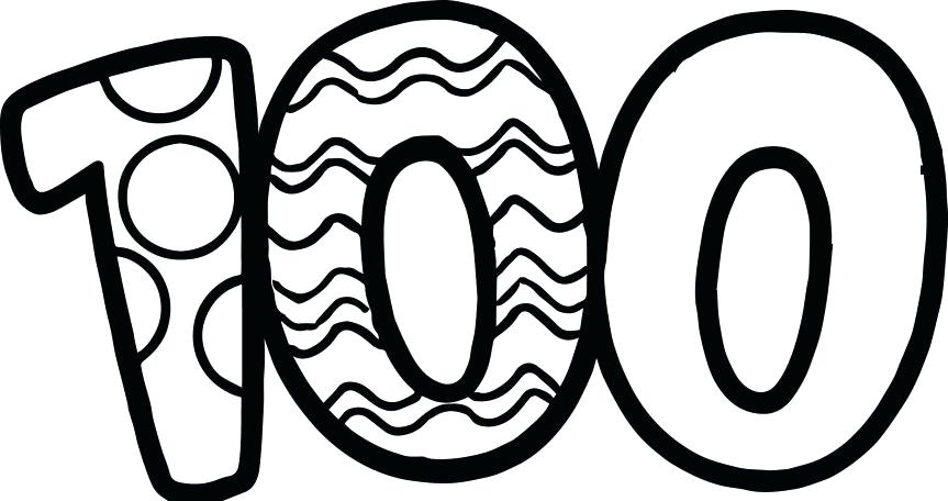 100th Day Of School Clipart Black And White.