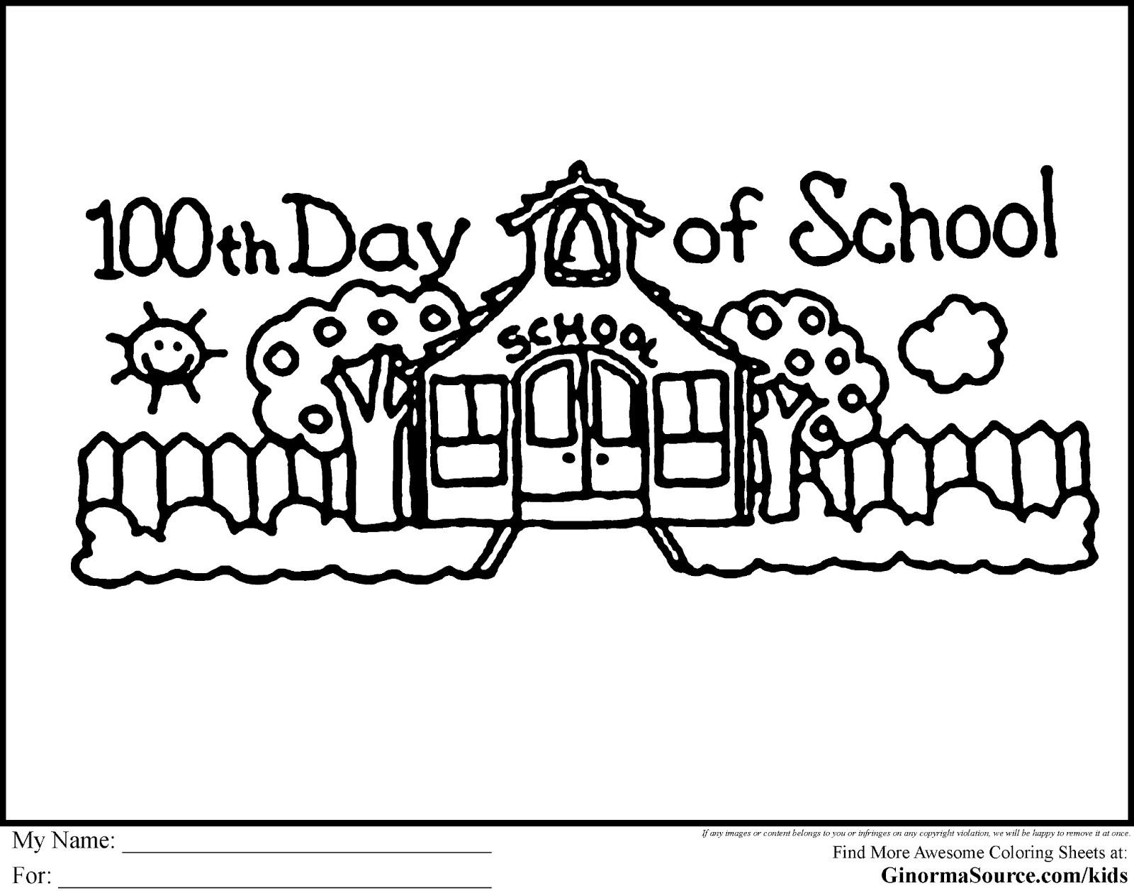 100 Day Celebration Clipart.