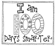 100 Days Smarter Clipart Black And White.