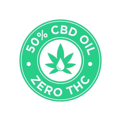 50 percent CBD Oil icon. Zero THC..