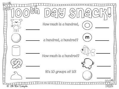 100 Day Snack Clipart Clipground