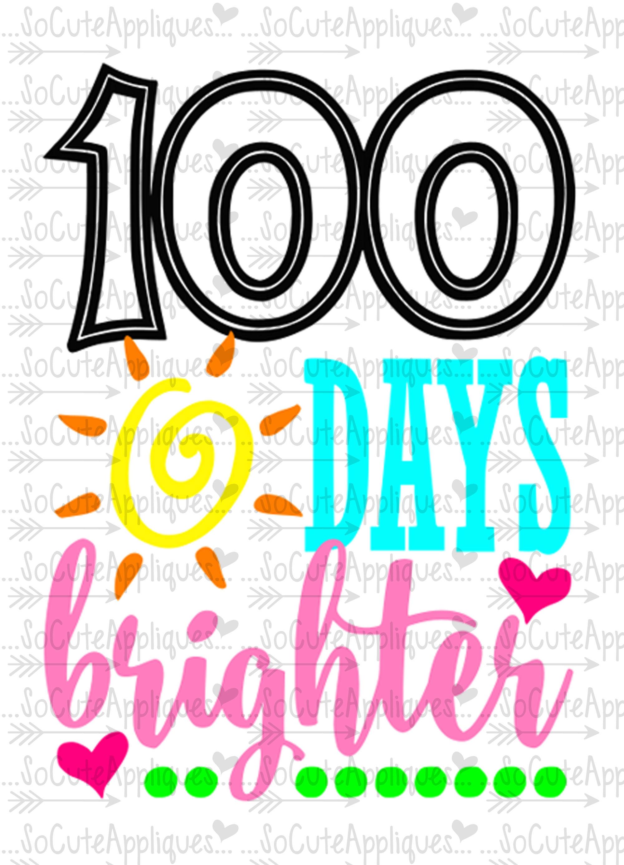 Cute 100 Day Clipart.