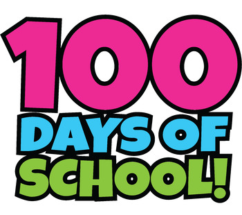 Happy 100 Days Of School Clipart.